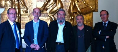 Cándido Méndez visita la FNMT