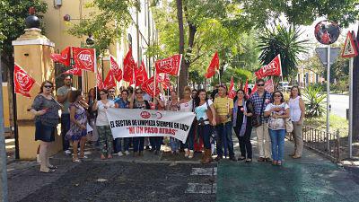 Movilizaciones en Sevilla por el impago de salarios